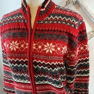 Classic Elements Fair Isle Cardigan Sweater